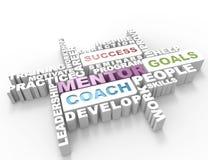 Parola del mentore 3d illustrazione di stock