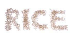 Parola del riso isolata Fotografia Stock Libera da Diritti