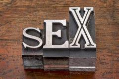Parola del sesso nel tipo del metallo fotografia stock