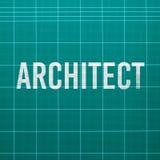 Parola dell'architetto sulla stuoia di taglio Immagine Stock Libera da Diritti