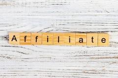 Parola della FILIALE fatta con il concetto di legno dei blocchi immagine stock libera da diritti