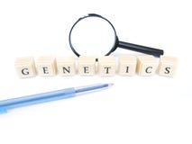 Parola della genetica fotografia stock