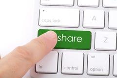 Parola della parte sulla tastiera Fotografia Stock Libera da Diritti