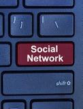 Parola della rete sociale sulla tastiera Immagine Stock Libera da Diritti