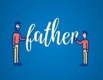 Parola della tenuta del figlio e del padre insieme Immagine Stock