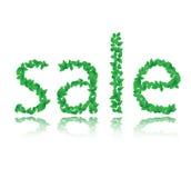 Parola della vendita del foglio verde, vettore Immagini Stock