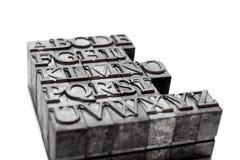 Parola di ABC, scritto tipografico Fotografia Stock Libera da Diritti