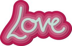 Parola di amore del biglietto di S. Valentino 3d Immagini Stock
