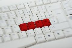 Parola di AMORE su una tastiera Fotografie Stock