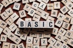 Parola di BASIC scritta sul concetto delle particelle elementari immagine stock