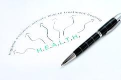 Parola di Bealth stampata con la penna Fotografia Stock Libera da Diritti