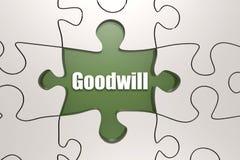 Parola di benevolenza sul puzzle illustrazione di stock