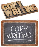 Parola di Copywriting Fotografie Stock
