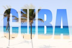 Parola di Cuba immagini stock