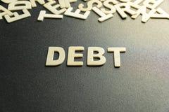 Parola di debito immagini stock libere da diritti