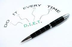 Parola di dieta Fotografie Stock Libere da Diritti