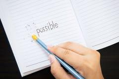 Parola di Erase im Fotografie Stock Libere da Diritti