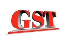 Parola di GST nell'illustrazione 3d Fotografia Stock Libera da Diritti