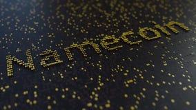 Parola di Namecoin fatta dei numeri dorati rappresentazione 3d Immagine Stock