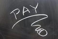 Parola di paga e segno del mouse Fotografia Stock Libera da Diritti
