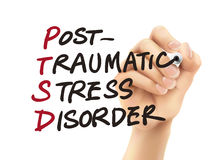 Parola di PTSD scritta dalla mano 3d Immagine Stock Libera da Diritti