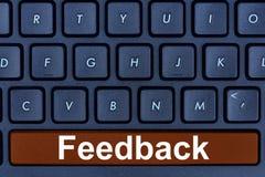 Parola di risposte sul bottone della tastiera di computer Fotografia Stock