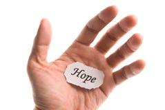 Parola di speranza disponibila Fotografia Stock Libera da Diritti
