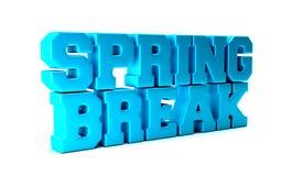 Parola di stagione della rottura di primavera illustrazione della rappresentazione 3d illustrazione vettoriale