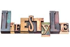 Parola di stile di vita nel tipo di legno misto Immagini Stock Libere da Diritti
