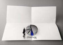 Parola di strategia aziendale del disegno della mano Fotografia Stock