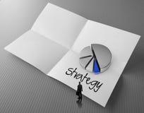 Parola di strategia aziendale del disegno della mano Fotografie Stock