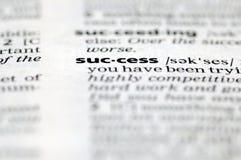 Parola di successo Fotografia Stock