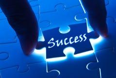 Parola di successo sulla parte di puzzle Fotografia Stock Libera da Diritti