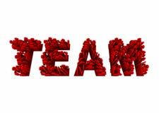 Parola di Team Members Working Together Teamwork Immagini Stock Libere da Diritti