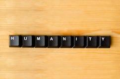 Parola di umanità immagini stock