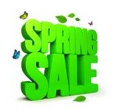 parola di vendita della primavera resa 3D con i percorsi di ritaglio Fotografia Stock Libera da Diritti