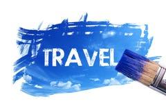 Parola di verniciatura di viaggio illustrazione vettoriale