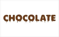 Parola di vettore fatta di cioccolato Fotografie Stock Libere da Diritti