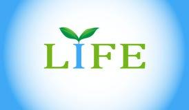 Parola di vita con la pianta verde. Fotografie Stock Libere da Diritti