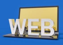 parola di web dell'argento 3D Fotografia Stock Libera da Diritti