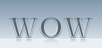 Parola di wow Fotografia Stock