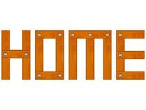 Parola domestica di legno Immagini Stock