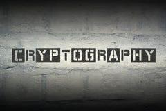 Parola gr della crittografia immagini stock