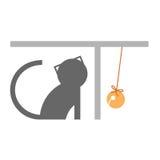 Parola grafica del gatto Fotografia Stock Libera da Diritti