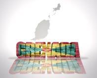 Parola Granada su un fondo della mappa illustrazione di stock