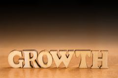 Parola GROWTH immagine stock