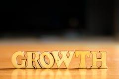 Parola GROWTH fotografie stock libere da diritti
