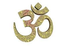 Parola indù che legge simbolo di Aum o del OM Fotografia Stock