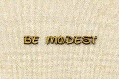 Parola onesta felice caritatevole di tipografia di genere riconoscente umile modesto fotografia stock