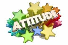Parola positiva delle stelle dell'Outlook di atteggiamento illustrazione vettoriale